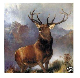 "Handicrafts Repro oil painting:""Deer In canvas"" 24x24"""