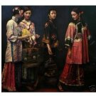 "Art Repro oil painting:""4 Classicality Lady"" 24x36 inch"