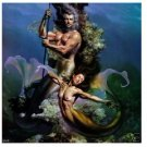 Handicrafts Art Repro oil painting:Mermaid In canvas 24x24""