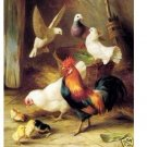 """Handicrafts Repro oil painting:""""Cock And Chicken"""" 24x36"""