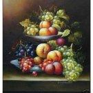 """Handicrafts Art Repro oil painting:""""Still Life Fruit"""" 24x36"""""""