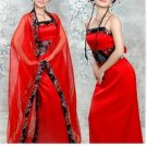 Chinese ancient imperial concubine outfit TangFeng fairy take (red)