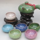 Violet arenaceous ice crack glaze kung fu tea set suit '【 multiple color 】