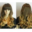 The new fashion golden brown and multicolor wig