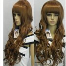 New cosplay long curly brown heat resistant wig