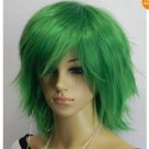 New short Grass green cosplay party wig A625