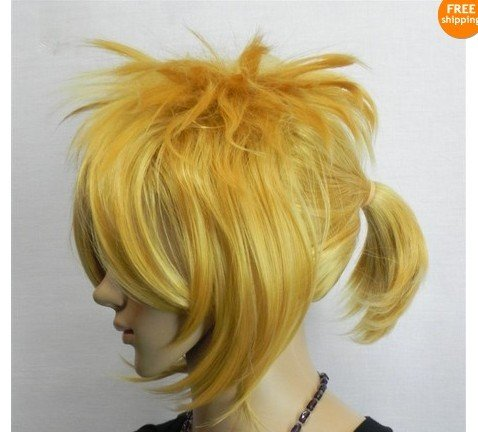 New short mixed gold COSPLAY parties of the A619 wig