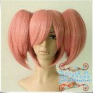 Magical Girl small round Dark Pink Wig Clip On Extensions