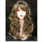 JF103 wonderfrul popular long brown curly full wig ADA