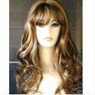Slender brown mixed healthy women's wig