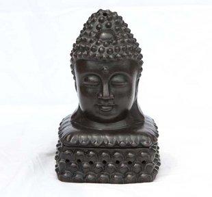 Yixing China Violet arenaceous incense burner head Buddha censer