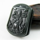 Xinjiang hetian jade carving strap/waist button/of wealth