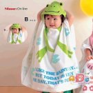 Cartoon Kids Towel cotton towel and beach towels baby cloak baby bathrobe (frog)