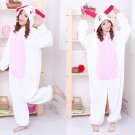Hot New Kigurumi pajamas anime role playing costume Unisex Adult jumpsuit dress (pink bunny)