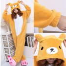 kigurumi pajamas cosplay costume adult men and women's dress (bear)