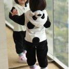 Baby Panda spring piece pajamas coral velvet animal children male and female baby Romper