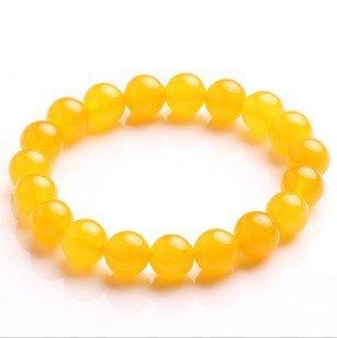 Natural fine 10 mm topaz pulp lucky bracelet bangles