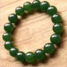 Exquisite natural green jade amulet Bracelet 14mm