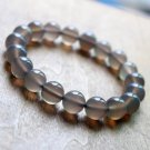 Natural Gray Agate Bracelet Charms Bracelet 10mm