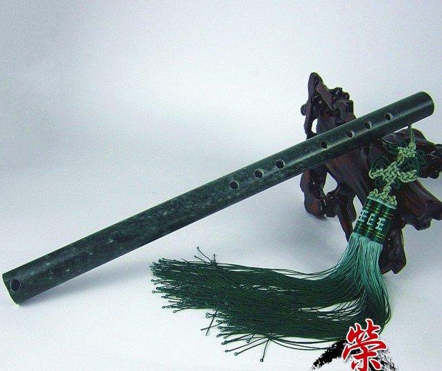 Rare Handmade Carved jade flute*Gemstone�A1�