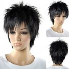 fashion Black Straight Bangs Cosplay Wig