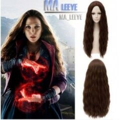 Avengers Scarlet Witch Wig Wanda Maximoff Long Wavy Hair Cosplay Party Wig