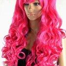 New type of mei red curly wig Cosplay lolita split heat resistant wig