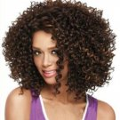 New Fashion Charm Women's Ladies short Mix Brown Curly Natural Hair Full wigs