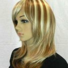 Hot Sell New Fashion Medium Blonde Mix Brown Straight Women's Lady Hair Wig Wigs