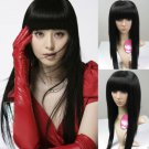 New Fashion Long Straight Black Sexy Anime Costume Party Hair Full Wig