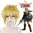 The Legend Of Zelda Sky Ward Sword Link Short Yellow Blonde Anime Cosplay Wig