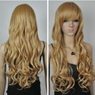 New Fashion Wig Blonde Wig Sexy Women Wig Beautiful !Long Curly Hair Wigs