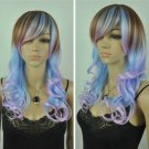 New Wig Sexy Woman Mixed Color Long Curly Hair