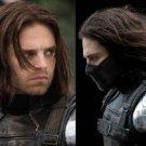 Captain America 2 COS wig winter warrior Short dark brown wavy wig Cosplay Party