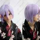 New Short Light Purple Cosplay Party Wig Fashion Straight Hair Wigs