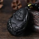 Grind arenaceous obsidian The jade Buddha pendant pendant