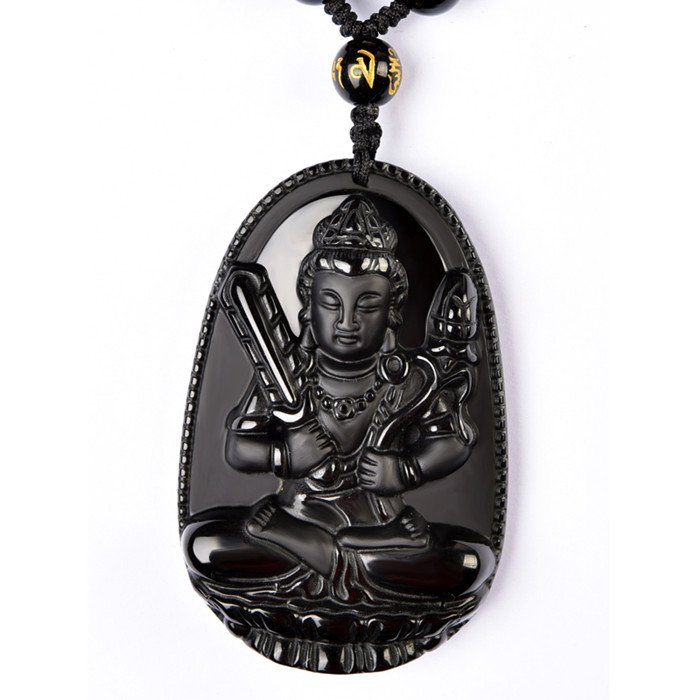 Natural obsidian statue of Buddha statue of Buddha statue of Buddha in the Chinese zodiac