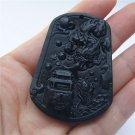 Hand-carved beautiful jade pendant jade pendant Diving Dragon Gate