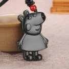 Hand-carved hetian jade cartoon pig jade pendant
