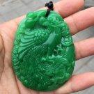 Hand-carved jade phoenix amulet jade pendant