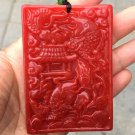Hand-carved jade fish yue long door amulet jade pendant pendant