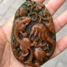 Hand-carved jade auspicious animal talisman jade pendant pendant pendant