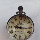 Work CHINESE OLD BRASS GLASS pocket watch BALL clock(B142)