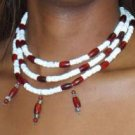 Shell and Horn Bead Necklace