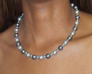Grey and Silver Swarovski Pearls