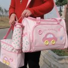 2 Multi-Function Baby Tote Nappy Bags + Accessories (Pink) - HOT & NEW