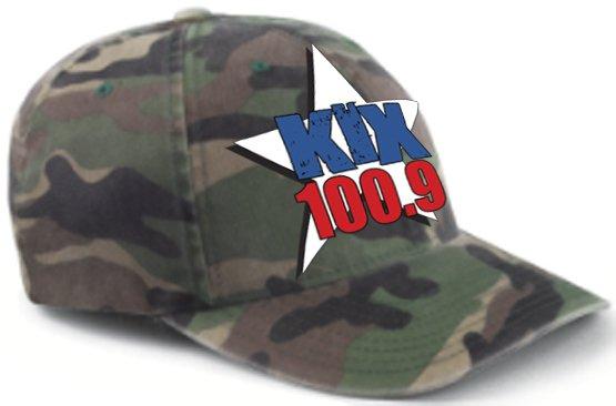 "L/XL - Camouflage - ""Kix 100.9"" FlexFit Hat"