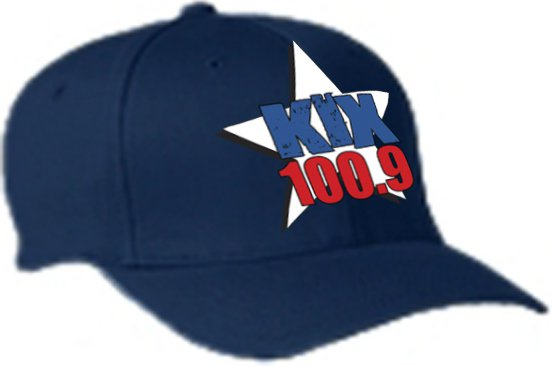 "L/XL ""Kix 100.9"" Navy FlexFit Hat"