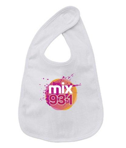 Baby Bib - Mix 93.1 - Bella Infant 5.8 oz reversible bib
