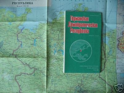 RARE! German Democratic Republic (GDR) Geographical Map